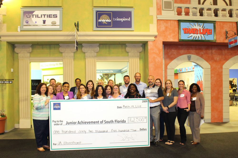 Minto Communities Generously Donates $32,500 Each Year to Junior Achievement of South Florida